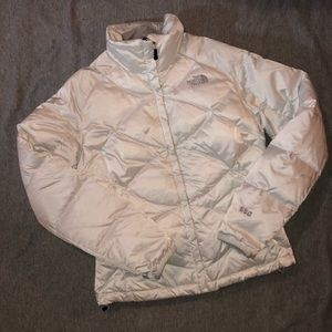 White North Face Down Puffer Coat